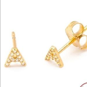 A Cute Letter A earrings
